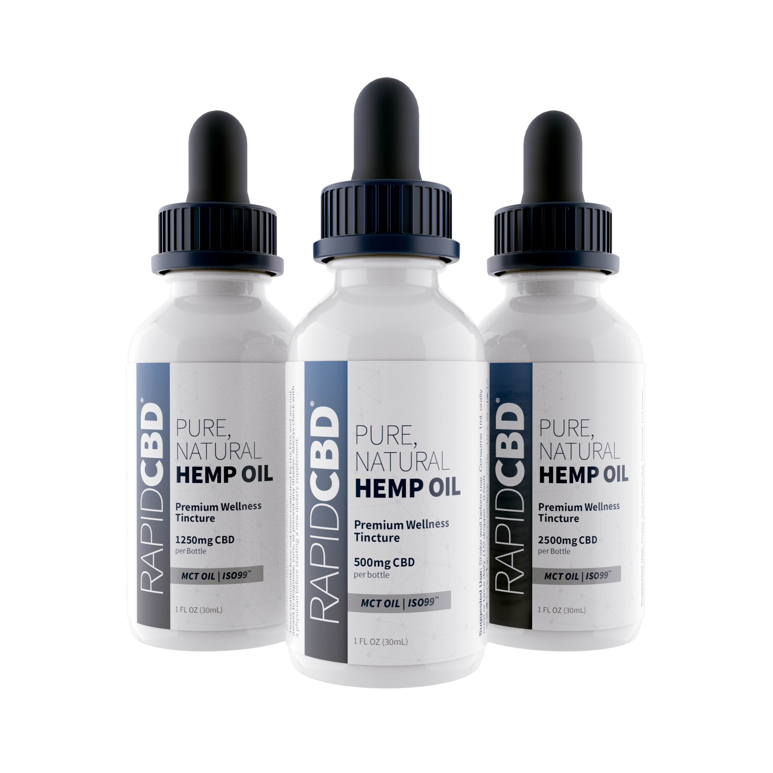 RapidCBD Pure, Natural Hemp Oil Tincture